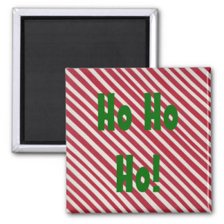 Candy stripe Square Christmas Magnet
