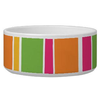 Candy Striped Dog Bowl