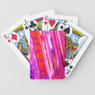 Candy Striped Red & Purple Quartz Bicycle Playing Cards
