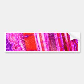 Candy Striped Red & Purple Quartz Bumper Sticker
