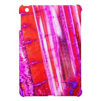 Candy Striped Red & Purple Quartz iPad Mini Case