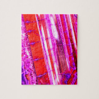 Candy Striped Red & Purple Quartz Jigsaw Puzzle