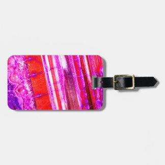 Candy Striped Red & Purple Quartz Luggage Tag
