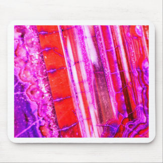 Candy Striped Red & Purple Quartz Mouse Pad