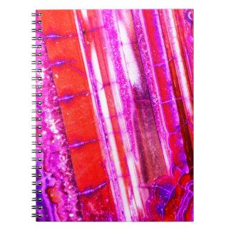 Candy Striped Red & Purple Quartz Notebooks