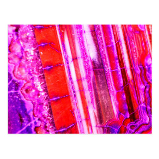 Candy Striped Red & Purple Quartz Postcard