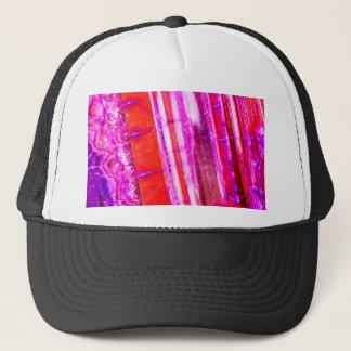 Candy Striped Red & Purple Quartz Trucker Hat