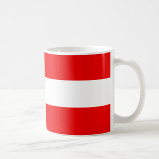 Candy striper collection shown in Cardiinal Red Coffee Mug