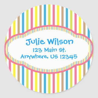 Candy Stripes Address Stickers