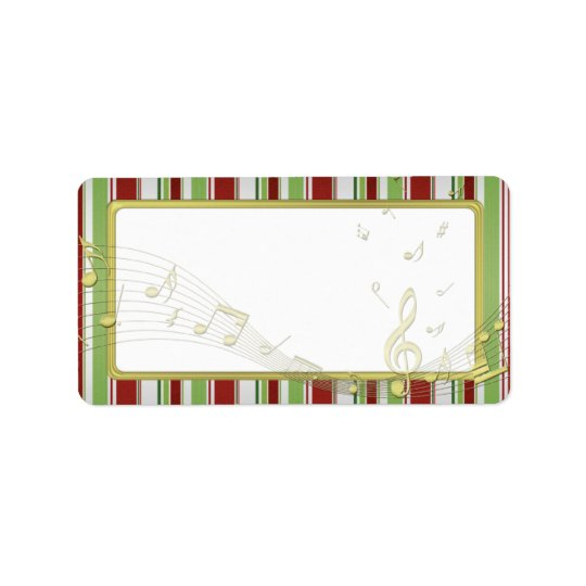 Candy Stripes Christmas Blank Address Labels