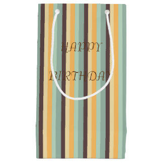Candy Stripes Pattern Small Gift Bag