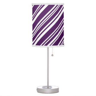 Candy Stripes, Purple and White Table Lamp