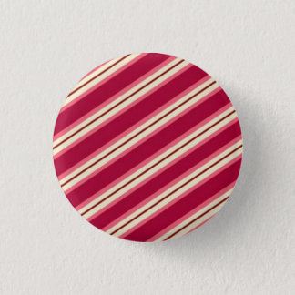 Candy Stripes: Raspberry 1 Inch Round Button