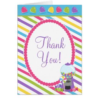 Candy Stripes Thank You Card