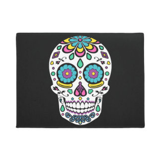Candy Sugar Skull Doormat