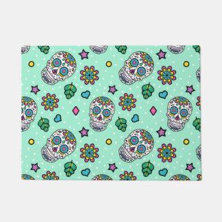 Candy Sugar Skull Print Doormat