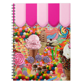 candy Super Sweet Ice Cream Funny Notebook