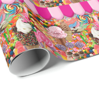 Candy Super Sweet Ice Cream Funny Wrapping Paper