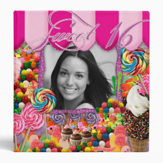Candy Sweet Sixteen Birthday Cute Ice Cream Photo Binder
