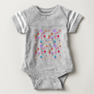 Candy, sweets and cake baby bodysuit