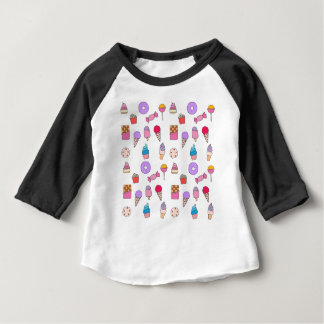 Candy, sweets and cake baby T-Shirt