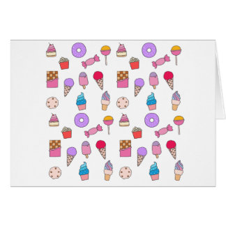 Candy, sweets and cake card