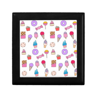 Candy, sweets and cake gift box