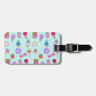 Candy, sweets and cake luggage tag