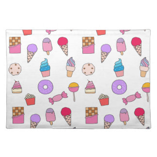 Candy, sweets and cake placemat