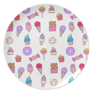 Candy, sweets and cake plate