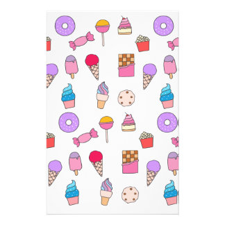 Candy, sweets and cake stationery