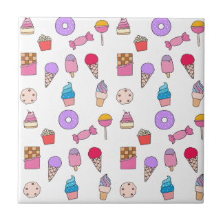 Candy, sweets and cake tile