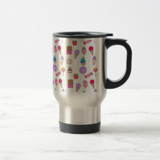 Candy, sweets and cake travel mug