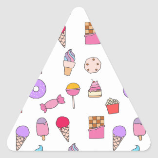 Candy, sweets and cake triangle sticker