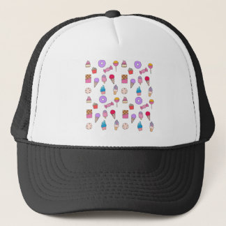 Candy, sweets and cake trucker hat