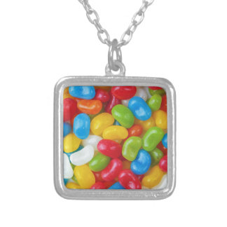 Candy Sweets Colorful Silver Plated Necklace