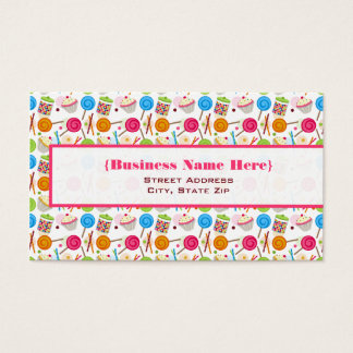 Candy & Sweets Pattern Business Card