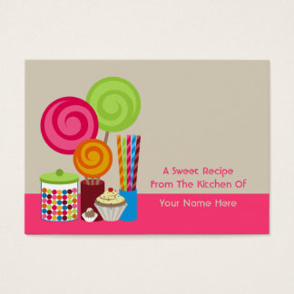 Candy & Sweets Recipe Cards