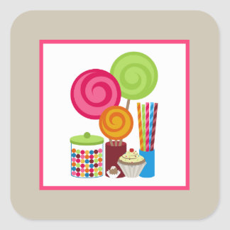 Candy & Sweets Square Sticker