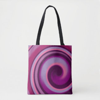 Candy Swirl All-Over-Print Tote Bag