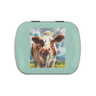 Candy Tin with cow