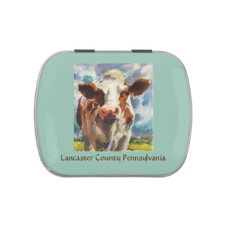 Candy Tin with Lancaster County cow