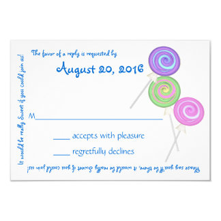 Candy Treasures Blue Text Response Card