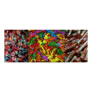 Candy Triptych Poster