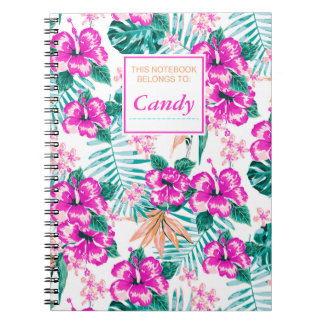 Candy tropical print cusomizable notebook