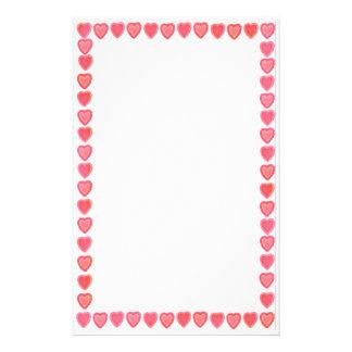 Candy Valentine Hearts Stationery