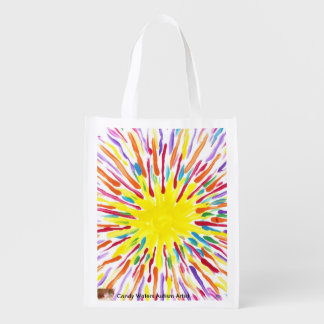 Candy Waters Autism Artist Bag Reusable Grocery Bags