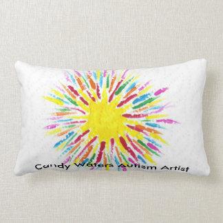 Candy Waters Autism Artist Lumbar Pillow