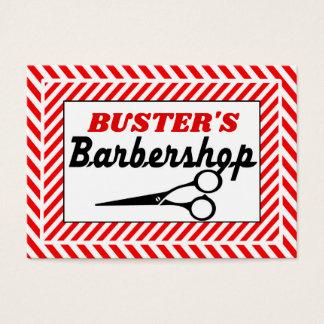 Candycane Border Barbershop 2 Business Card