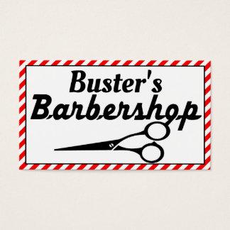 Candycane Border Barbershop Business Card